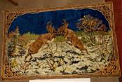 "Two Bull Elk Fighting Tapestry, 73"" x 47-1/2"""